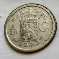 Голландская Ост-Индия 1/10 гульдена, 1930  1-7-10