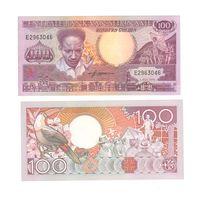 Банкнота Суринам 100 гульденов 1986 UNC ПРЕСС