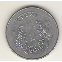 1 рупия 2001 г. МД: Калькутта.