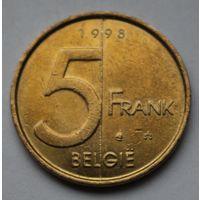 Бельгия 5 франков, 1998 г. 'BELGIE'