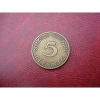 5 пфеннигов 1950 год F Германия