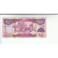 Сомалиленд. 1000 шиллингов  2011г. ( P20, UNC) распродажа