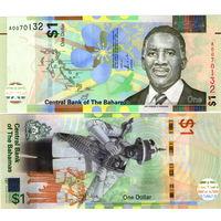Багамские острова ( Багамы ) 1  доллар 2017  год  UNC