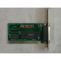 Плата-контроллер принтерного порта (PARALLEL PRINTER CARD) ISA-8бит для ретро-компьютеров XT, AT-286,386,486 (или подходит к новоделу, например к Поиску).