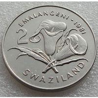 """Свазиленд. 2 эмалангени 1981 год KM#33а """"Бриллиантовый юбилей короля Собузы"""" Редкая!!!"""