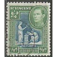 Сент-Винсент. Король Георг VI. Герб. 1938г. Mi#119.