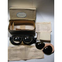 Очки полётные ПО-1М в комплекте со светофильтрами. в оригинальной коробке. 11.1984 г.в.