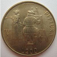 Сан-Марино 200 лир 1997 г. (g)