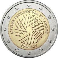 2 евро 2015 Латвия Председательство Латвии в Совете Европейского союза UNC из ролла