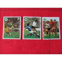 """Парагвай. 1981. ЧМ по футболу """"Испания-82"""". Сер. 3 м."""