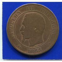 Франция 10 сантимов 1855