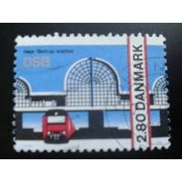 Дания 1986 поезд, вокзальный переход