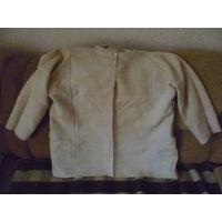 Мужская рубаха из небеленого домотканого льняного полотна