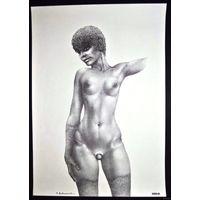 Литография Обнаженная женщина Raymond Bertrand