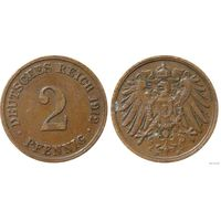 YS: Германия, Рейх, 2 пфеннига 1912D, KM# 16 (2)