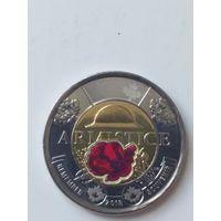 Канада 2 доллара 2018 года 100 лет со дня окончания Первой Мировой войны