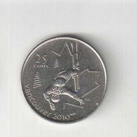 25 центов 2008 года Канады Ванкувер 2010 Фристайл