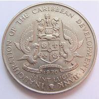 О. Сент-Люсия 4 доллара 1970 г