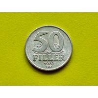 Венгрия. 50 филлеров 1989.