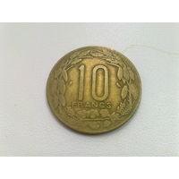 Центральная Африка 10 франков 1974