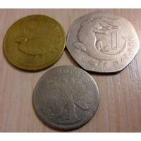 Монеты Гамбии - 3 штуки (из коллекции, цена за все)