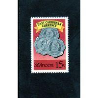 Сент Винсент.  Монеты.Восточнокарибский монетарный союз. 1989