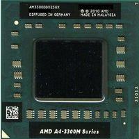 Процессор Mobile processor Socket FS1AMD AMD A4-Series A4-3300M 1900 MHz Turbo frequency 2500 MHz AM3300DDX23GX (903932)