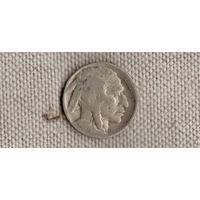 США 5 центов 1934 /Бизон/индеец/(JN)