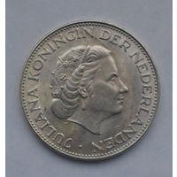 Нидерланды 2 1/2 гульдена 1963 гульдена UNC!Серебро(35)