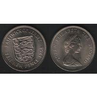 Джерси _km33 10 пенсов 1968 год (f08)*