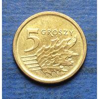 Польша 5 грошей 2016