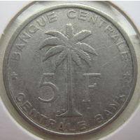 Бельгийское Конго (Руанда-Урунди) 5 франков 1958 г. В холдере