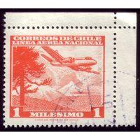 1 марка 1960 год Чили Самолёт 565