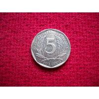 Карибы (Карибские острова) 5 центов 2015 г.