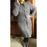Вязаное пальто Тренд сезона 44-46 очень мягкая нежная альпака