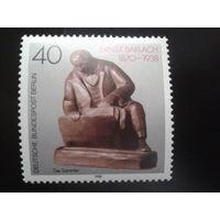 Берлин 1988 Бронзовый памятник поэту Михель-0,9 евро