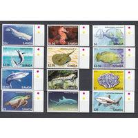 Фауна. Морские животные. Самоа. 2011. 12 марок (полная серия). Michel N 1114-1155 (55,0 е).