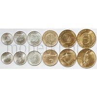 Словения 6 монет 1992-2001 годов. Животные, 1 толар VF-XF