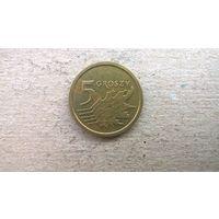 Польша 5 грошей, 2016г.