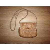 Соломенная сумочка через плечо