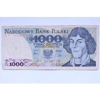 Польша, 1000 злотых 1982 год
