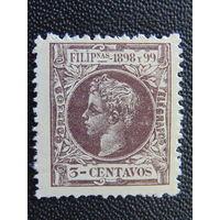Испанская колония Филиппины 1898 г. Король Альфонс XIII.