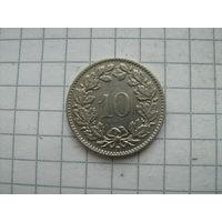 Швейцария 10 раппен 1939г.