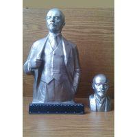 Два бюста В.И.Ленина. Ск. Н.Теплов, 1977г. Ск. А.Мурзин, 1984г. (возможен обмен)