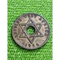 Британская Западная Африка 1 пенни 1956 г Георгий VI