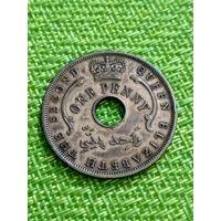 Британская Западная Африка 1 пенни 1956 г ( бронза )