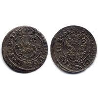 Шеляг 1621, Сигизмунд III Ваза, Рига, патина, R