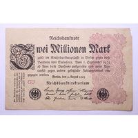 Германия, 2 миллиона марок, 1923 год.