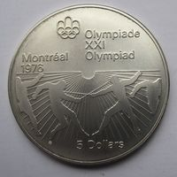 Канада, 5 долларов, олимпиада, серебро