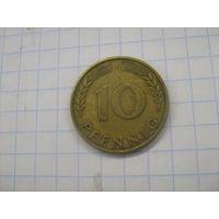 ФРГ 10 пфеннигов 1950г (j).km108